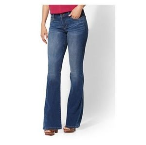 New York & Company curvy low-rise jeans